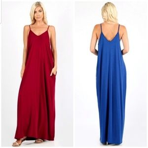 Dresses & Skirts - 🔥HP🔥New 1X-3X Cabernet Maxi Pocket Dress